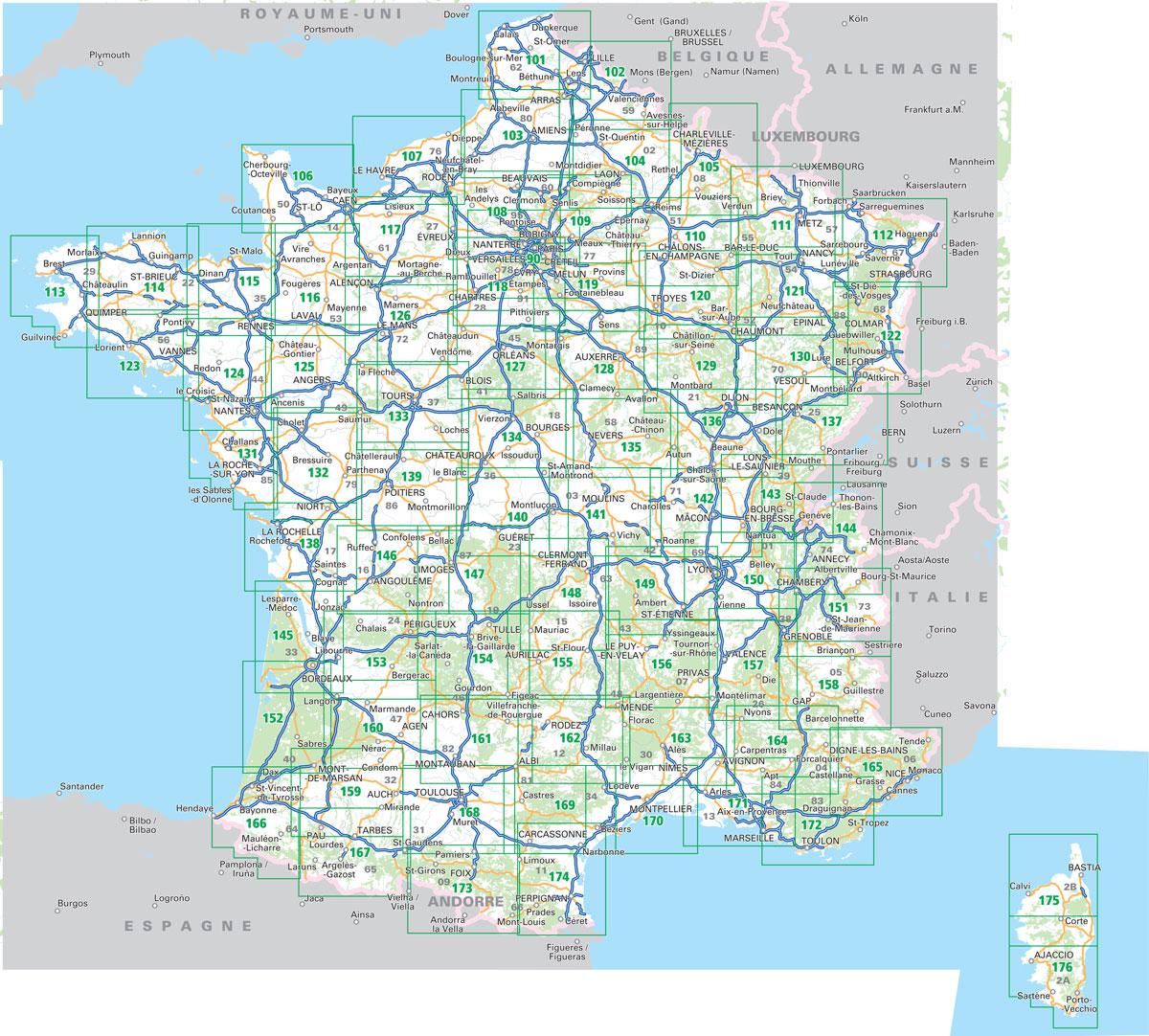 France Ign 100k Top100 Road Maps Of France Stanfords