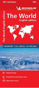 World Michelin Political Folded Map