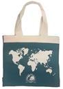 Stanfords World Map Book Bag - Teal