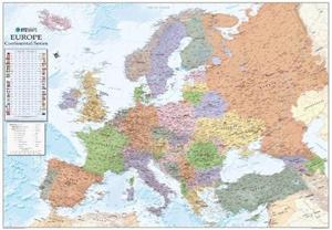 Europe XYZ Maps Political Wall Map PAPER