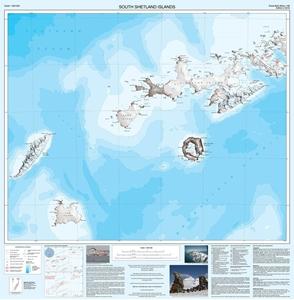South Shetland Islands BAS Wall Map