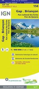 Gap - Briancon - PN des Ecrins - Parc du Queyras IGN TOP100 158